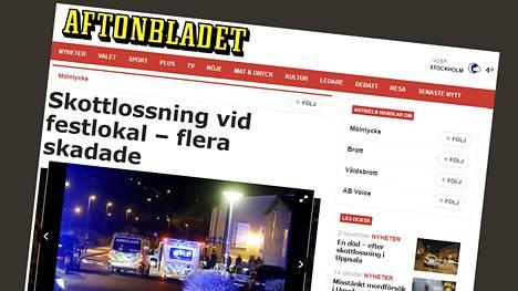 Aftonbladet kertoo ampumisista nettisivuillaan.