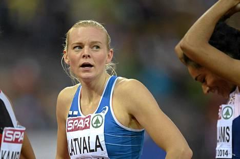 Hanna-Maari Latvalan vauhti ei aivan riittänyt EM-finaaliin.