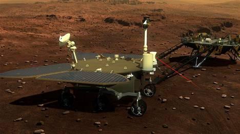 Kiinan Mars-luotaimesta irtoaa toukokuussa laskeutuja ja sen mönkijä Marsin pinnalle.