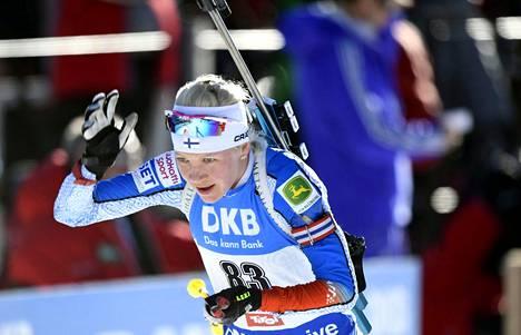 Kaisa Mäkäräinen kuvattuna 15. helmikuuta 2017 MM-kisoissa.