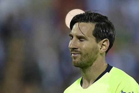 Lionel Messi ei onnistunut maalinteossa Leganésia vastaan.