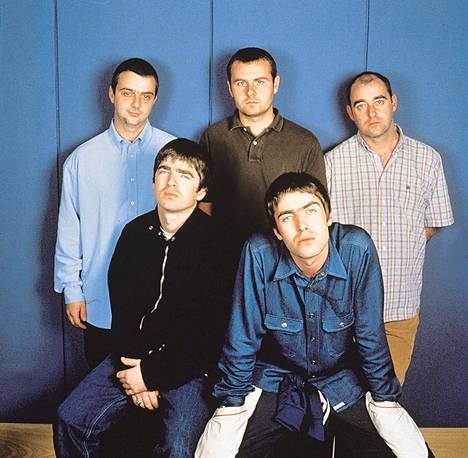 Oasis-yhtye vuonna 1997.
