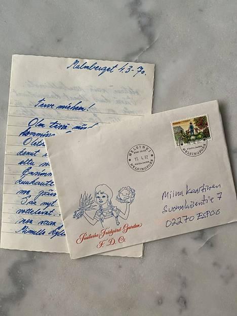 Tältä salaperäinen kirje näyttää.