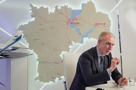Uljanovskin alueen kuvernööri Sergei Morozov haluaisi Fortumin rakentavan Uljanovskiin lisää tuulivoimaa.
