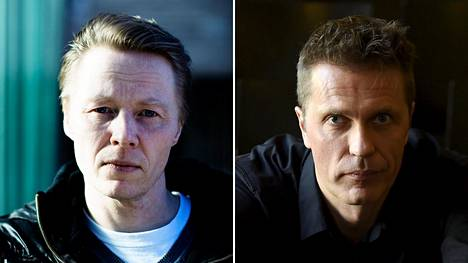 Egotrippi-yhtyeen laulaja, Espoon kaupunginvaltuutettu Mikki Kauste ja yrittäjä Jari Sarasvuo.