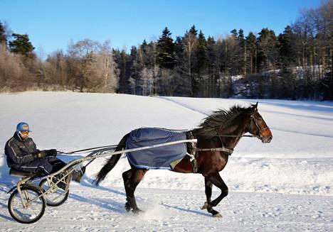 Tuomas Korvenoja oli Brad de Veluwen rattailla tammikuussa Sipoossa.