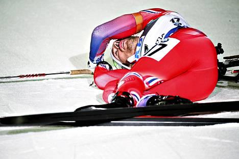 Norjan Emil Hegle Svendsenin rutistus päättyi MM-hopeaan.
