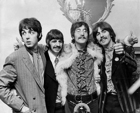 The Beatles elokuussa 1969: Paul McCartney (vas.), Ringo Starr, John Lennon ja George Harrison.