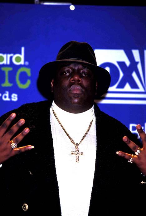 Notorious B.I.G. Billboardin palkintogaalassa vuonna 1995.