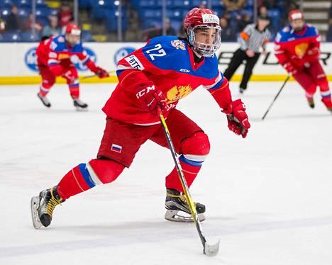 TPS:ään siirtyvä Ruslan Ishakov on pelannut Venäjän alle 18-vuotiaiden maajoukkueessa. Kuva viiden maan turnauksesta helmikuulta 2018.