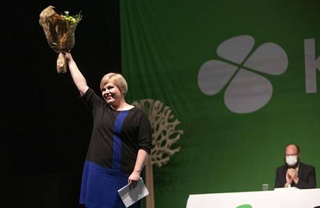 Annika Saarikko valittiin lauantaina keskustan uudeksi puheenjohtajaksi.