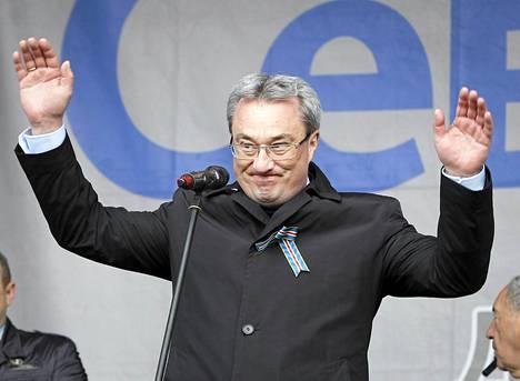 Kuvernööri Vjatšeslav Gaizer ja 14 muuta Komin tasavallan johtohahmoa pidätettiin lauantaina. Kuva viime vuoden elokuulta.
