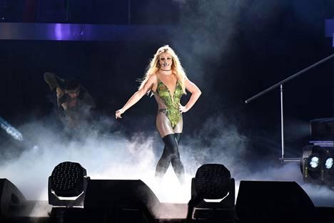 Britney Spears esiintyi Taiwanissa vuonna 2017.