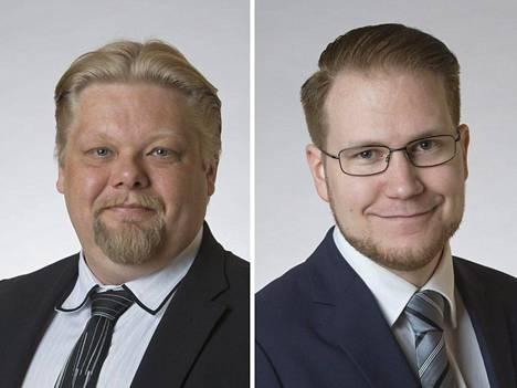 Perussuomalaisten edustajat Ylen hallintoneuvostossa Jari Ronkainen ja Olli Immonen.