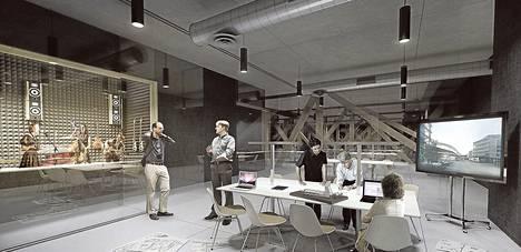 Keskustakirjaston toisesta kerroksesta on tarkoitus tehdä vinttimäinen ja vapaa tila, joka innostaa nuoria tekemään yhdessä.