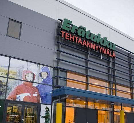 Erätukun myymälä Vantaan Tammistossa. Kuva vuodelta 2006, jolloin tiloissa toimi tehtaanmyymälä.