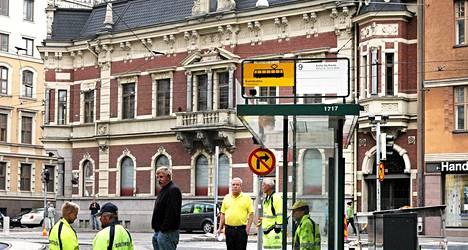 Olutbaari Bier-Bier avataan entisiin Alkon tiloihin Kolmikulman vieressä. Kuva vuodelta 2008.