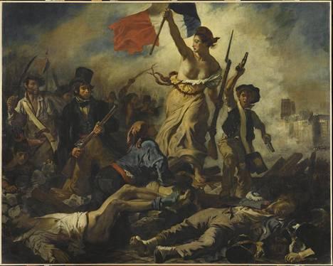Delacroix'n tunnetuin teos Vapaus johtaa kansaa (1830) on vain yksi mestariteos muiden joukossa Louvren valtavassa näyttelyssä.