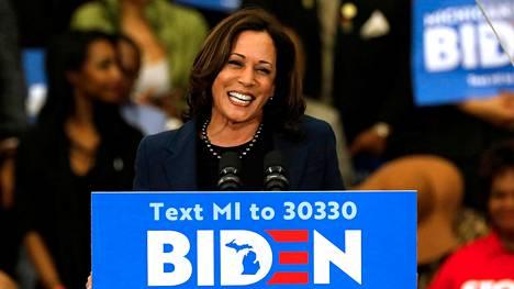 Kamala Harris on Joe Bidenin valinta varapresidentiksi.