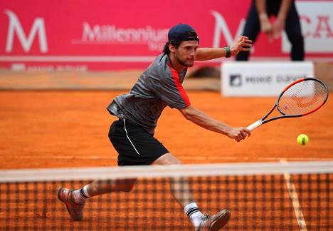 Pedro Sousa kuvattuna 4. toukokuuta Estorilin turnauksessa Portugalissa.