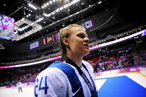 Mikael Granlund voitti viime talvena olympiapronssia.