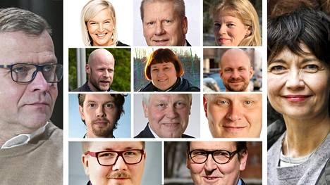 HS kysyi kokoomuksen piirijohtajilta, millaisia ajatuksia viime viikonlopun tapahtumat Helsingissä heissä herättivät. Kuvassa vasemmalla puolueen puheenjohtaja Petteri Orpo ja oikealla pormestariehdokkuudesta yllättäen luopunut Kirsi Piha.
