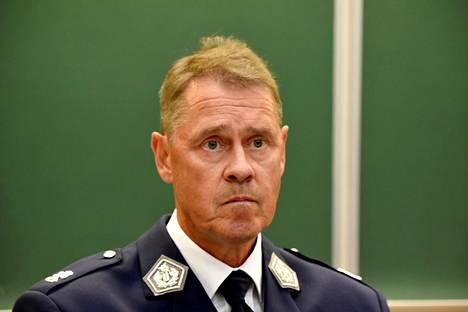 Poliisiylijohtaja Seppo Kolehmainen Turun puukotusten tiedotustilaisuudessa 19. elokuuta.