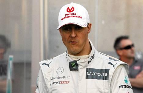 Michael Schumacher mietteliäänä.