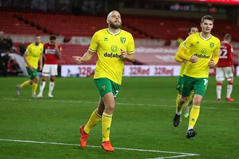 Norwich Cityn ykköspyssy Teemu Pukki on yhä sivussa kylkivammansa vuoksi.