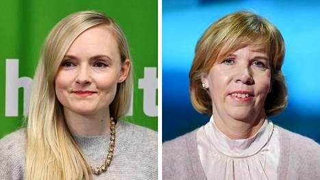 Vihreiden puheenjohtaja Maria Ohisalo ja Rkp:n puheenjohtaja Anna-Maja Henriksson.