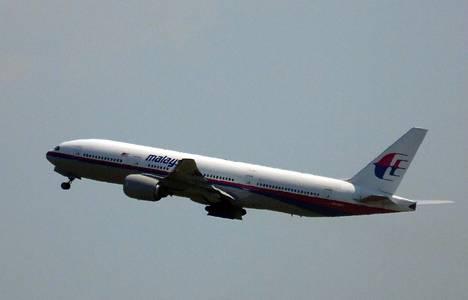 Malaysia Airlinesin MH17-lento vähän jälkeen ilmaannousun Schipholin lentokentällä torstaina.