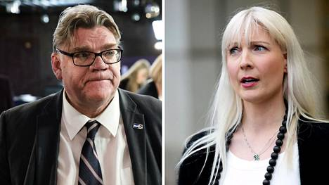 Timo Soini ja Laura Huhtasaari joutuivat napit vastakkain keväällä 2017.