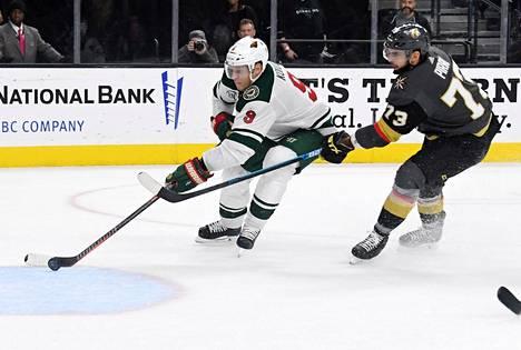 Mikko Koivu tökkäsi uransa 200. NHL-maalin tyhjään verkkoon.