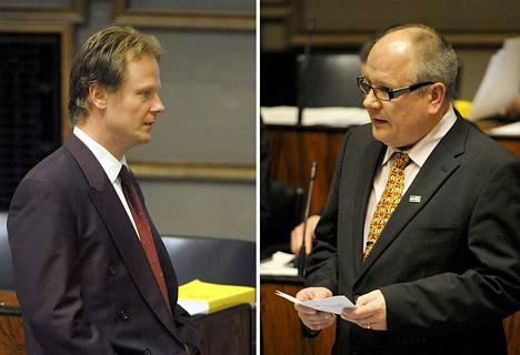 Juho Eerola (vas.) ja Kaj Turunen