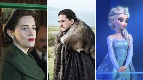 The Crown, Game of Thrones ja Frozen ovat vuoden odotetuimpia uutuuksia.
