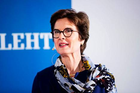 Hollantilainen Susan Duinhoven on media- ja oppimateriaaliyhtiö Sanoman toimitusjohtaja.