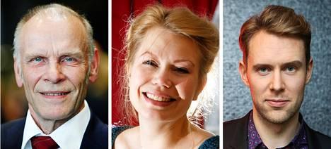 Jorma Hynninen, Helena Juntunen ja Waltteri Torikka osallistuivat lauantaina Sibelius 109 -tapahtumaan, jossa pyritään esittämään yhden viikonlopun aikana kaikki SIbeliuksen yksinlaulut.