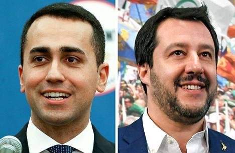 Luigi Di Maio ja Matteo Salvini.