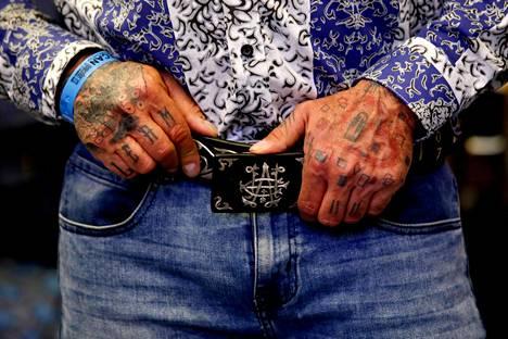El Chapo 701 -vyö. Kuva on Guadalajarassa tammikuussa järjestetystä IM Intermoda -muotitapahtumasta.