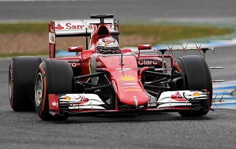 Kimi Räikkösen on ajanut kärkivauhti Jerezin testeissä.