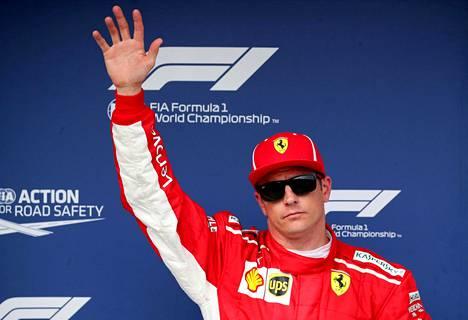 Kimi Räikkönen on noussut palkintopallille kahdeksan kertaa.