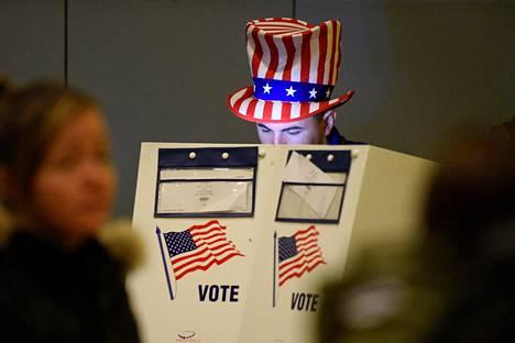 30-vuotias Travis Lopes äänesti New Yorkissa.