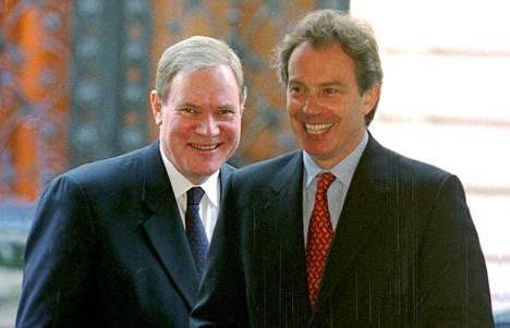Tony Blair ja Paavo Lipponen Lontoossa vuonna 2000.