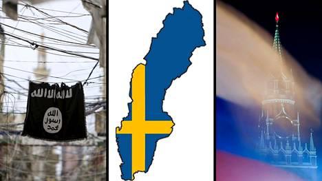 Ruotsin sisäisiä uhkia ovat turvallisuuspoliisin mukaan ääri-islamistit ja radikaalit nationalistit. Venäjä on yksi maan ulkopuolisista turvallisuusuhista.