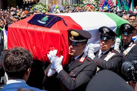 Mario Cerciello Regan hautajaiset järjestettiin heinäkuussa Somma Vesuvianassa Napolin lähellä.