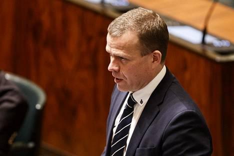 Kokoomuksen puheenjohtaja Petteri Orpo puhui eduskunnan täysistunnossa 12. helmikuuta 2020.