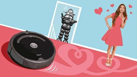 Jotkut kiintyvät esimerkiksi robottipölynimuriinsa.