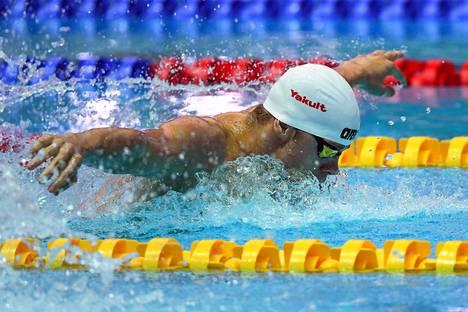 Tamas Kenderesi kilpaili uinnin MM-kisoissa 200 metrin perhosuinnin finaalissa.