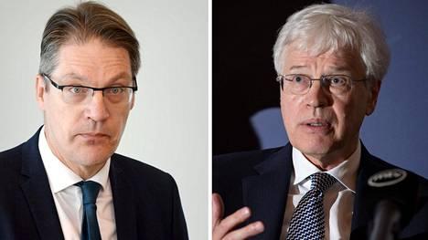 Risto Murto (vas) ja Bengt Holmström