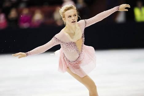 Emmi Peltonen luisteli toisen Suomen mestaruutensa.